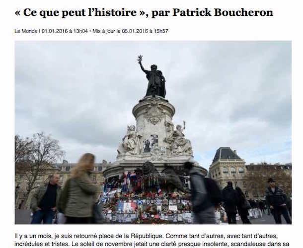 """""""Ce que peut l'histoire"""" de Patrick Boucheron"""